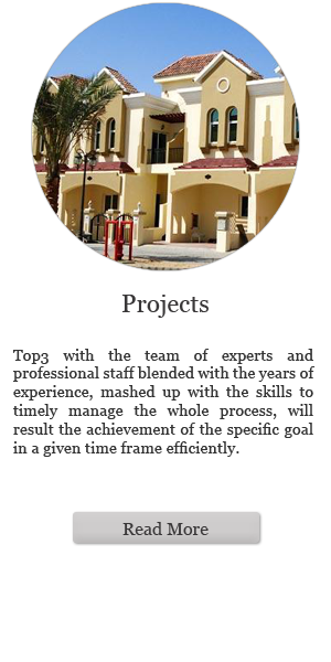Projects: Top3 with the team of experts and professional staff blended with the years of experience, mashed up with the skills to timely manage the whole process, will result the achievement of the specific goal in a given time frame efficiently. (Read more)
